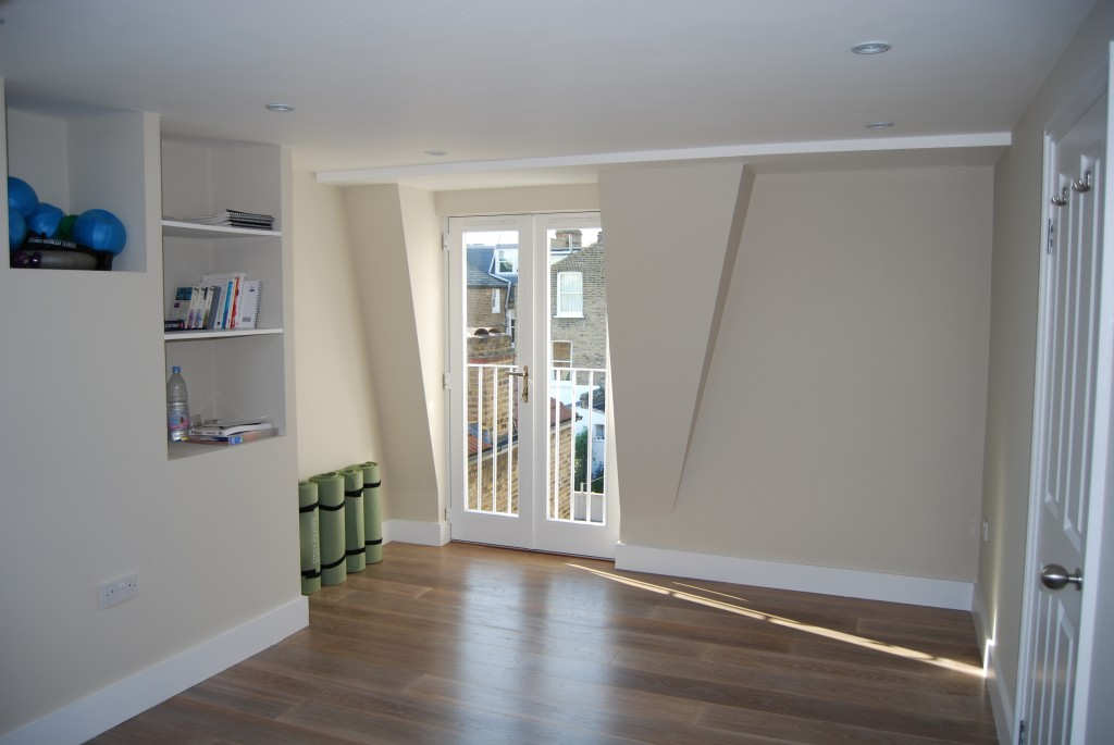 L-Shaped Loft Conversion yoga room