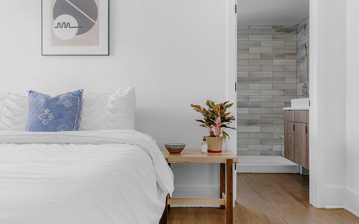 Loft converted into a bedroom with ensuite